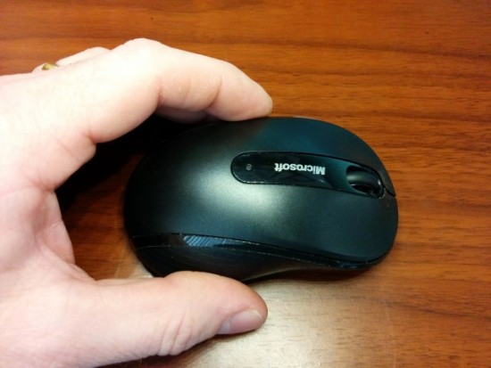 Not too big and not too small is the Microsoft Wireless Mobile Mouse 4000